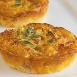 Crustless Cheddar and Sun-Dried Tomato Mini Quiches recipe