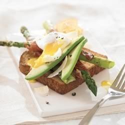 Spring Asparagus Ham and Egg Sandwich recipe