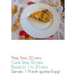 Low Carb and Gluten Free Quiche Lorraine recipe