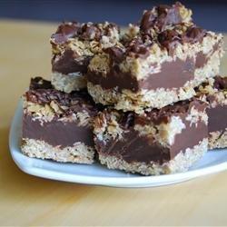 No Bake Chocolate Oat Bars recipe