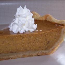 Mrs. Sigg's Fresh Pumpkin Pie recipe
