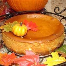 Pumpkin Cheesecake in a Gingersnap Crust recipe