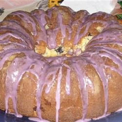 Blueberry Cream Cheese Pound Cake II recipe
