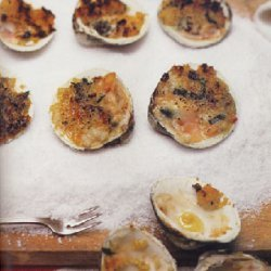 Clams with Oregano and Bread Crumbs (Vongole Origanate) recipe