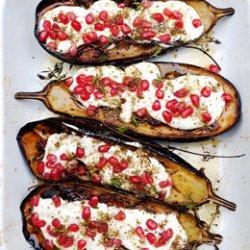 Eggplant with Buttermilk Sauce recipe
