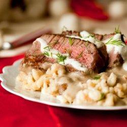 Beef Stroganoff with Peppered Spaetzle recipe