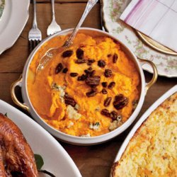 Sweet Potatoes with Blue Cheese and Pecans recipe