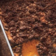 Sweet Potato Pudding with Pecan and Gingersnap Topping recipe