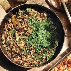 Wild Rice and Mushroom Stuffing recipe