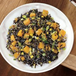 Wild Rice with Butternut Squash, Leeks, and Corn recipe