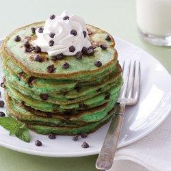 Mint Chocolate Chip Pancakes recipe