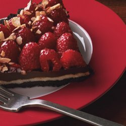 Chocolate, Almond, and Raspberry Tart recipe