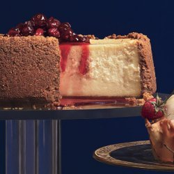 Maple Cheesecake with Maple-Cranberry Compote recipe