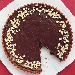 Dark Chocolate Tart with Gingersnap Crust recipe