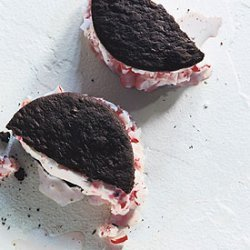 Chocolate and Peppermint Candy Ice Cream Sandwiches recipe