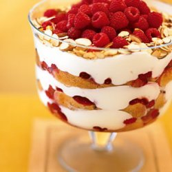 Raspberry, White Chocolate, and Almond Trifle recipe