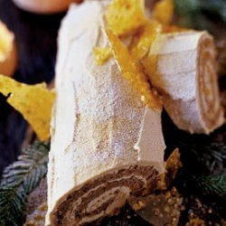 Maple Walnut Bûche de Noël recipe
