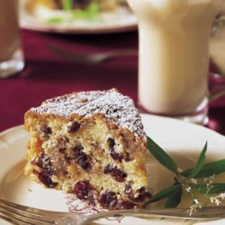 Pear and Dried Cherry Frangipane Cake recipe