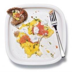 Scrambled Eggs with Smoked Salmon and Lemon Cream recipe