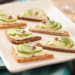 Cucumber Party Sandwiches recipe
