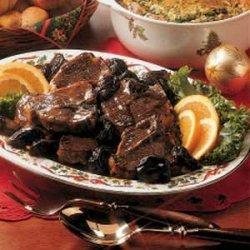 Lamb Chops with Prunes recipe
