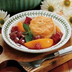 Rhubarb Peach Shortcake recipe
