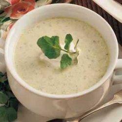 Asparagus Cress Soup recipe