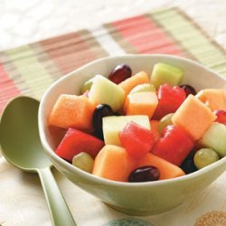 Melon and Grape Salad recipe