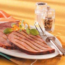 Grilled Marinated Ham Steaks recipe
