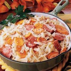 Bavarian Sausage Supper recipe