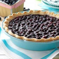 Fresh Blueberry Pie recipe