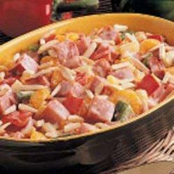 Hot Ham Salad recipe