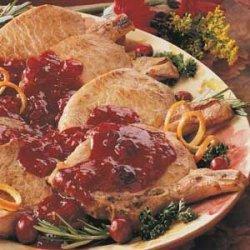 Pork Chops with Cranberries recipe