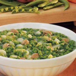 Gingered Peas and Water Chestnuts recipe