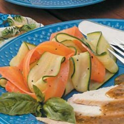Steamed Vegetable Ribbons recipe