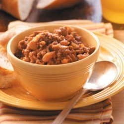 Ground Beef Baked Beans recipe