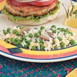 Cheesy Rice with Peas recipe