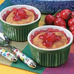 Mini Cherry Cobblers recipe