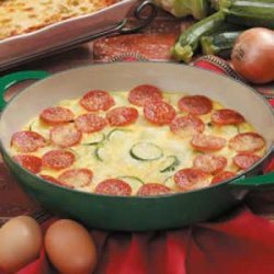 Pepperoni Frittata recipe