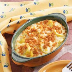 Cheesy Summer Squash Caserole recipe