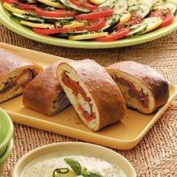 Pepper Artichoke Stromboli recipe