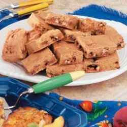 Candy Bar Cookie Squares recipe