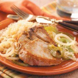 Pork Chops with Sauerkraut recipe