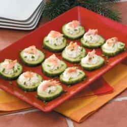 Smoked Salmon Cucumbers recipe