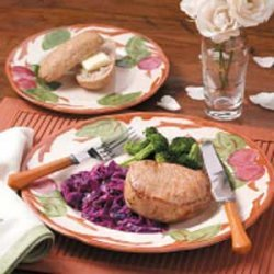 Pork Chops With Red Cabbage recipe