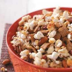 Popcorn Nut Treat recipe