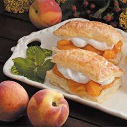 Peach-Filled Pastries recipe