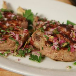Grilled Veal Chops with Caper and Sage Sauce recipe