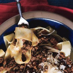 Homemade Pappardelle with Bolognese Sauce recipe