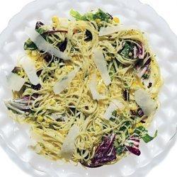 Capellini with Fresh Ricotta, Roasted Garlic, Corn, and Herbs recipe